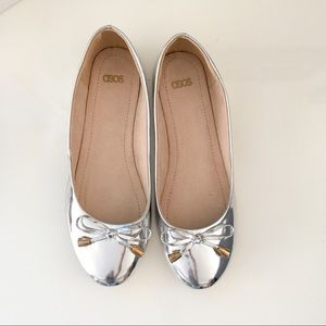 ASOS ballet silver flat